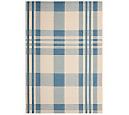 Safavieh 8 x 11 Plaid Indoor/Outdoor Rug - H283077