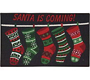 Nourison Essential 18 x 29 Christmas SantaIs Coming Rug - H293077