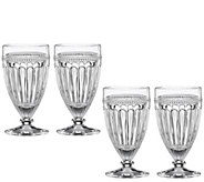 Lenox Set of 4 French Perle All-Purpose Beverage Glasses - H301777
