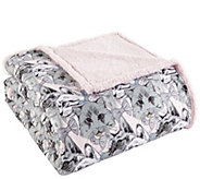 Shavel Micro Flannel to Sherpa King Cat CollageBlanket - H301877
