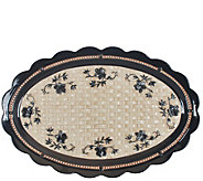 Temp-tations Floral Lace Basketweave 18 Oval Platter - H303277