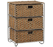 Household Essentials Seagrass 3-Drawer Chest - H142578