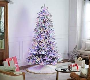 santas best starry light 65 flockedmicrolight tree