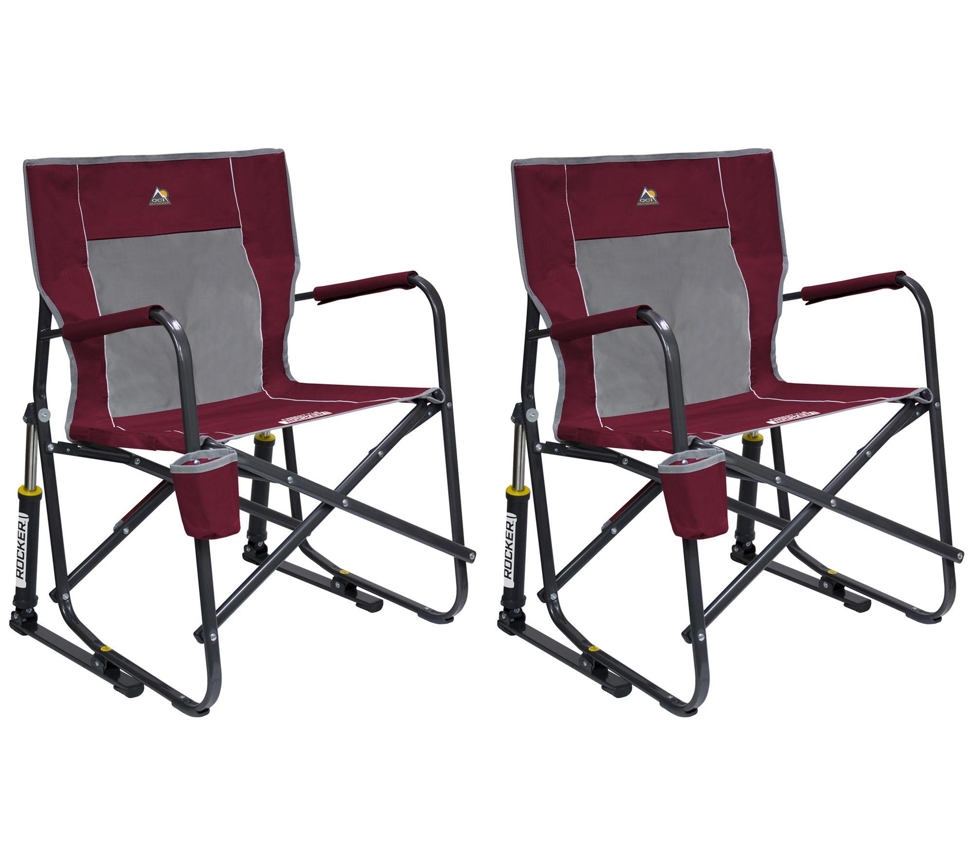 Stupendous Gci Outdoor S 2 Freestyle Rocker Chairs Qvc Com Creativecarmelina Interior Chair Design Creativecarmelinacom