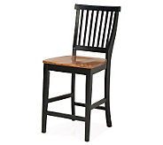 Home Styles Kitchen Stool with Oak Seat - H172479