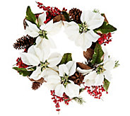 As Is Poinsettia and Berry Wreath or Garland by Valerie - H207479
