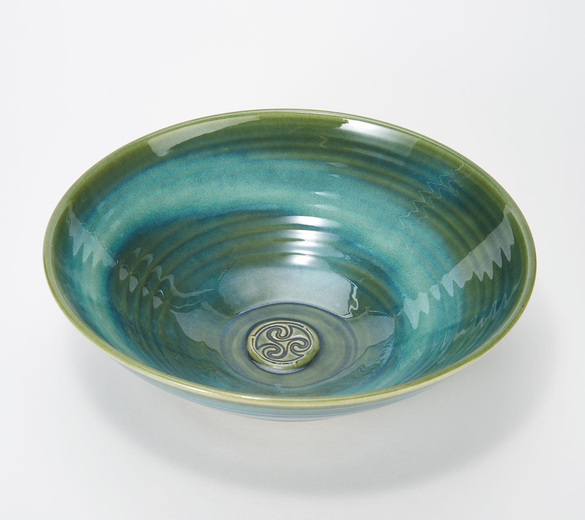 69160002f6be Colm De Ris Emerald Stoneware Fruit Bowl - Page 1 — QVC.com