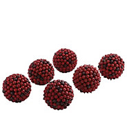 Set of (6) 5 Red Berry Balls by Nearly Natural - H300979