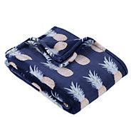 Berkshire Blanket Velvet Soft Pineapple StripeThrow Blanket - H302879