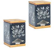 Temp-tations Floral Lace Set of 2 Tea Bag Dispensers - H303279
