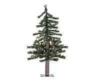 24 Prelit Natural Alpine Tree w/ Clear Lights by Vickerman - H155280