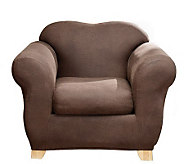 Sure Fit Stretch Faux-Leather Two-Piece Chair Slipcover - H174480