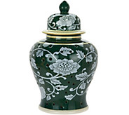 10 Porcelain Color Reverse Illuminated Ginger Jar Urn by Valerie - H211680