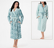 Casa Zeta-Jones Reversible Velvet Soft Signature Rose Robe - H216780
