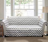 Gray Chevron Sofa Furniture Protector by Lush Decor - H290180