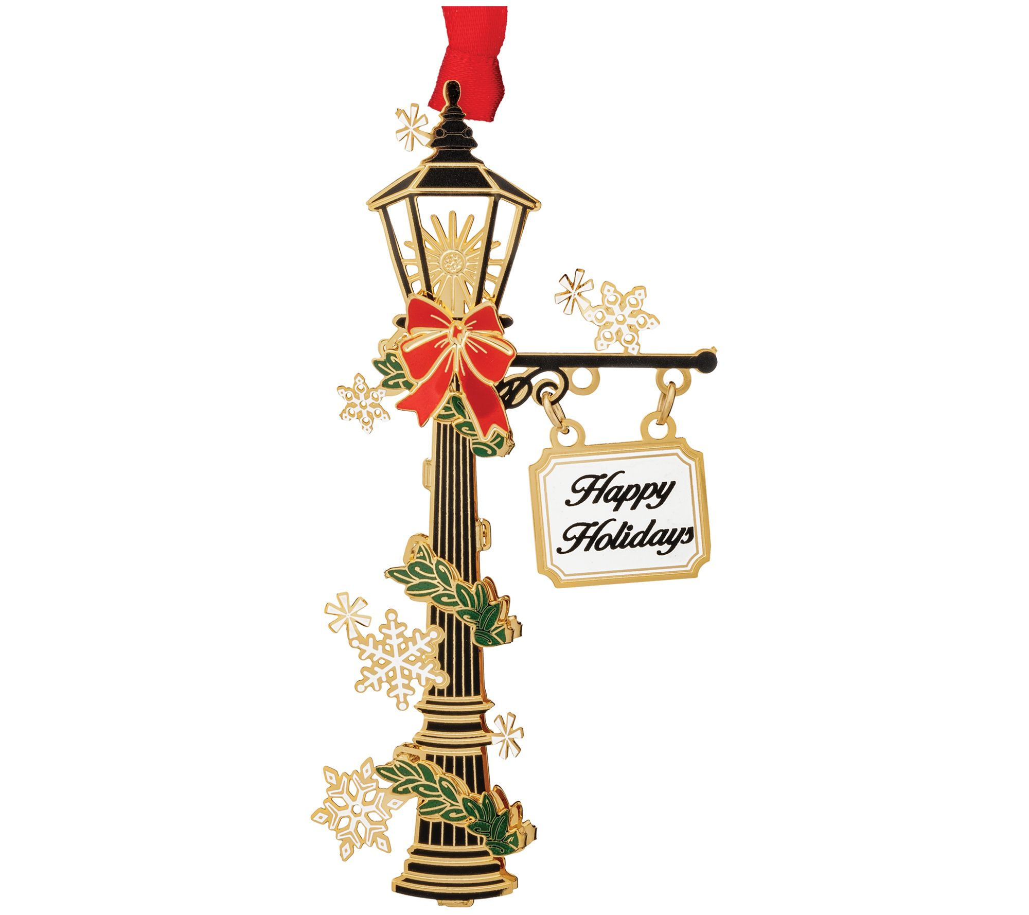 Holiday Lamp Post Ornament By Beacon Design Qvc Com
