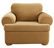 Sure Fit Stretch Pique 3-Piece T-Cushion ChairSlipcover - H349980