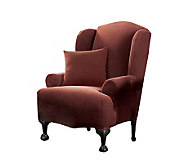 Sure Fit Stretch Pique Wing Chair Slipcover - H138981