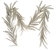 6 Glittered Antiqued Bottle Brush Garland - H209281