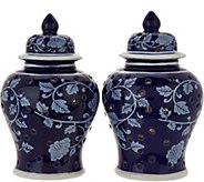 Set of (2) 6 Iluminated Color Reverse Ginger Jar Urns by Valerie - H211681