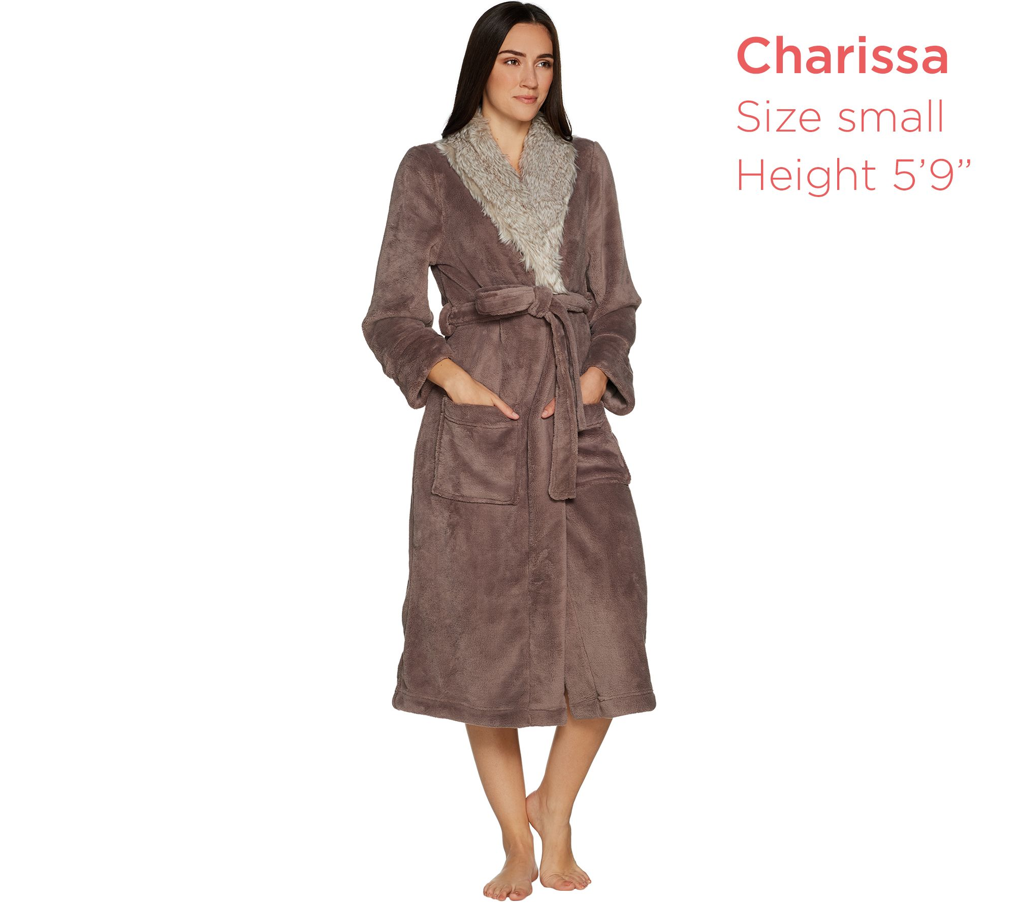 Primalush Full Length Robe with Faux Fur Collar by Berkshire - Page 1 —  QVC.com 31fe96b1c