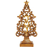 15.5 Antiqued Finish Joy Tree with Scroll Accents by Valerie - H212581