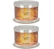 HomeWorx by Harry Slatkin Set of 2 Autumn Days 18-oz 4-Wick Candles - H216981