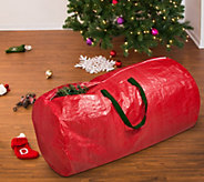 Honey-Can-Do Tree Storage Bag: Red with Green Handles - H282581