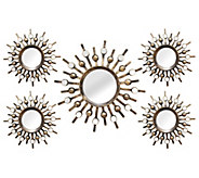 Stratton Home Set of 5 Burst Wall Mirrors - H296281