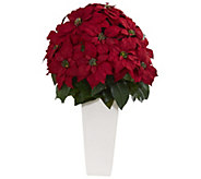 32 Poinsettia in Planter by Nearly Natural - H302681