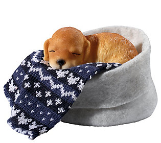 Design Toscano Labrador Sleepy Time Puppy Statue