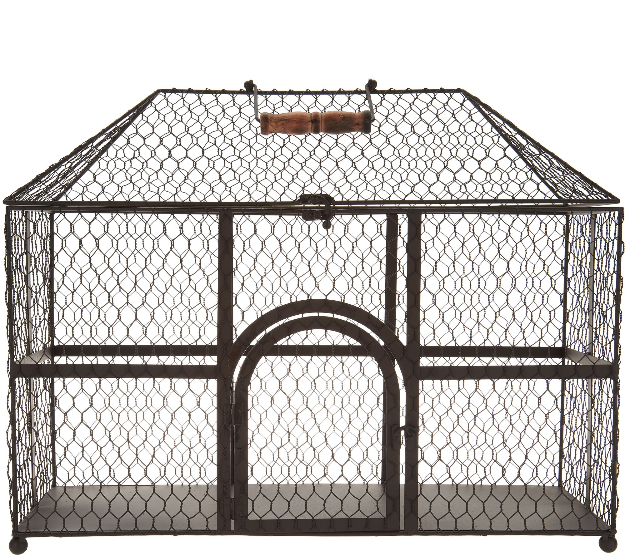 Set of 2 Wire Decorative Chicken Coops by Valerie - Page 1 — QVC.com