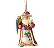 Jim Shore Heartwood Creek Margaritaville Santa with Parrot Ornament - H216182