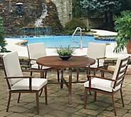 Key West 5-Piece Round Outdoor Table & 4 Chairs - H291782