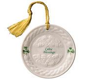 Belleek Celtic Blessing Plate Ornament - H298282