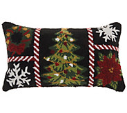 Mina Victory Holiday Grid Multicolor 12 x 24Throw Pillow - H301682