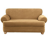 Sure Fit Stretch Pique 3-Piece T-Cushion Love Seat Slipcover - H349982