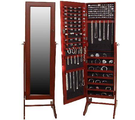 Lori Greiner Safekeeper Mirrored Jewelry Cabinet