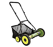 Sun Joe Mow Joe 20 Push Reel Mower w/ Catcher - H188083