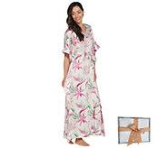 Casa Zeta-Jones Tropical Floral Caftan with Gift Box - H215783