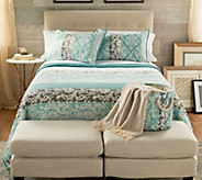 The Quilt Patch Ollie 3-Piece Full/Queen Quilt Set with Storage Bin - H217683