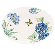 Lenox Butterfly Meadow Blue Oval Platter - H288483