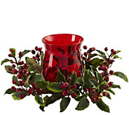 Holly Berry Candelabrum by Nearly Natural - H300983