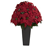 27 Poinsettia in Planter by Nearly Natural - H302683