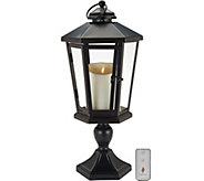 Luminara 19 Windsor Lantern with Pedestal & Flameless Candle - H210884