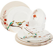 Lenox Chirp 12-Piece Bone China Dinnerware Set - H213984