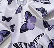 Casa Zeta-Jones Butterfly 60 x 84 Table Cloth w/ 8 Napkins - H215284