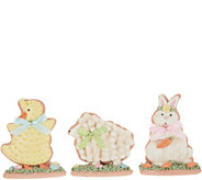 Set of 3 Easter Cookie Figures by Valerie - H217784