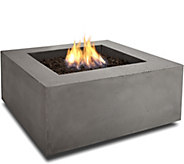 Real Flame Baltic Square Natural Gas Fire Table - H292284