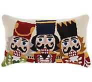 Mina Victory 3 Nutcrackers Multicolor 12 x 24Throw Pillow - H301684